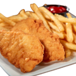 Chicken tender and  french fries